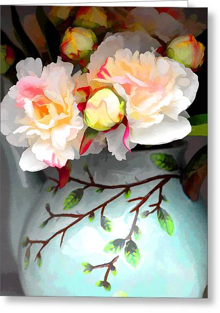 Buds In Vase Greeting Card