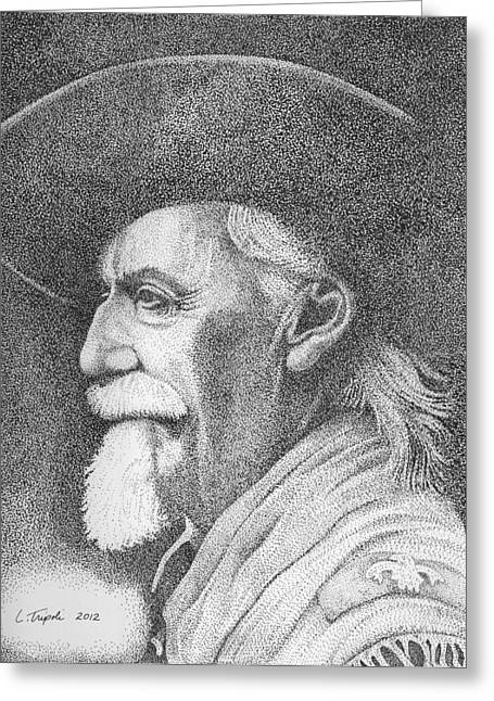 Buffalo Bill Cody Greeting Card by Lawrence Tripoli