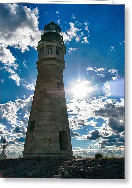 Buffalo Lighthouse 15717c Greeting Card by Guy Whiteley