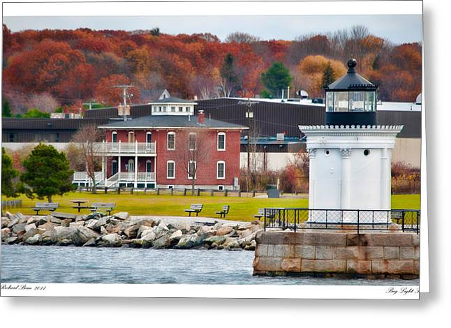 Greeting Card featuring the photograph Bug Light Park by Richard Bean