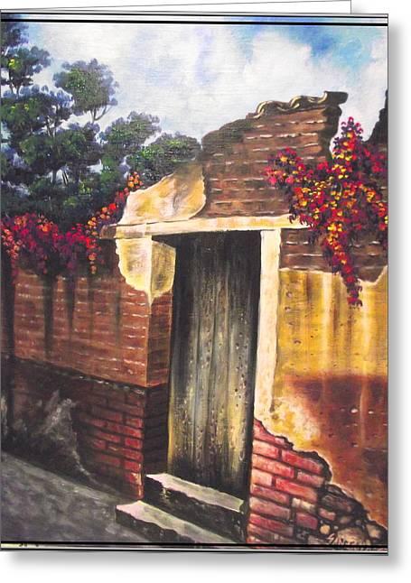 Bugambilias De Tia Tonchi Greeting Card by Joe Santana