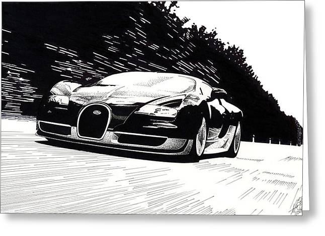 Bugatti Speed Greeting Card by Lyle Brown
