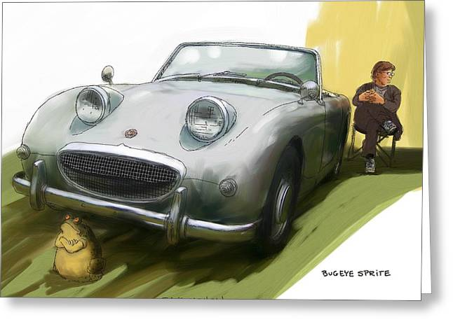 Bugeye Sprite Greeting Card