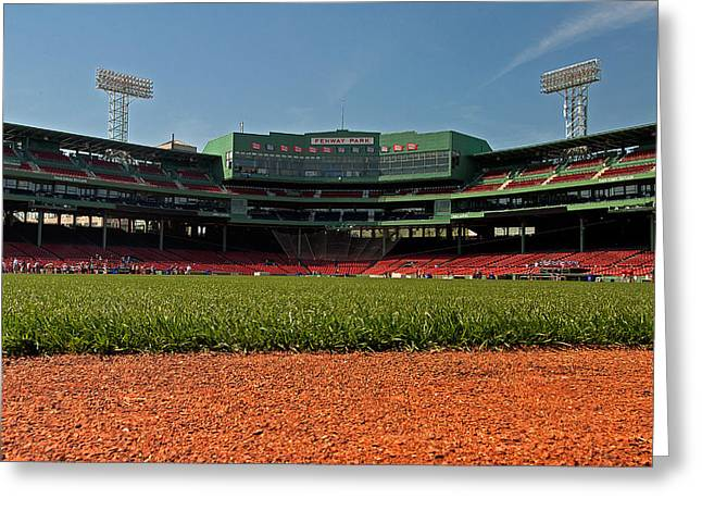 Bugs Eye View From Center Field Greeting Card by Paul Mangold