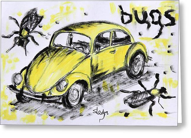Bugs Greeting Card by Sladjana Lazarevic