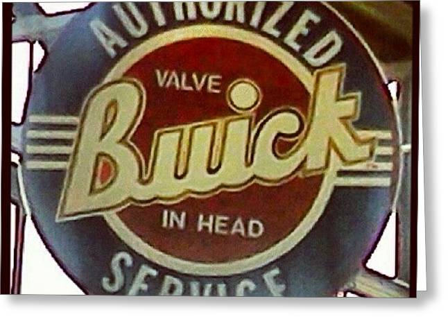 Buick Sign Greeting Card