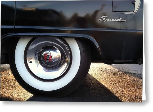 Greeting Card featuring the photograph Buick Rear by Elizabeth Coats