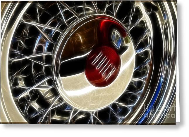 Buick Wheel Greeting Card by Katja Zuske