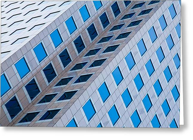 Building Abstract In Long Beach Greeting Card