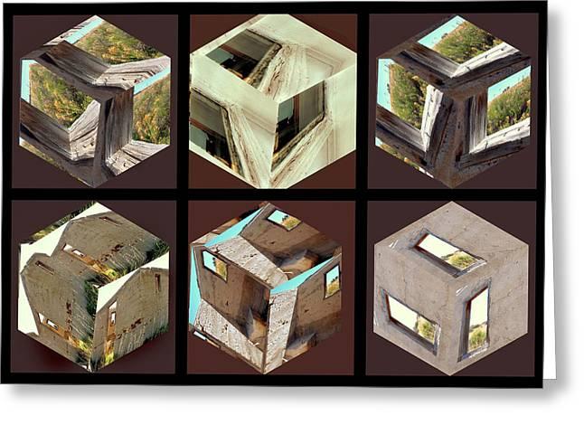 Building Blocks Greeting Card by Irma BACKELANT GALLERIES