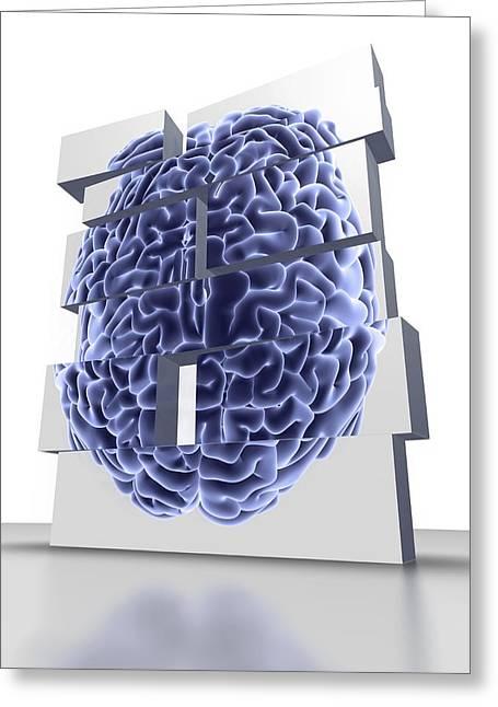 Building Blocks With Brain, Artwork Greeting Card by Pasieka