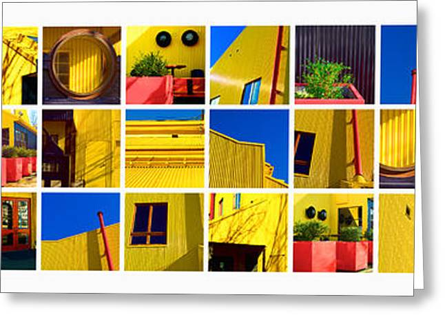 Building Mosaic  Greeting Card by Mauro Celotti
