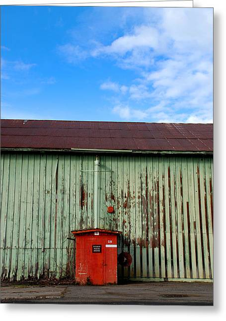 Greeting Card featuring the photograph Building Series - Red Shack by Kathleen Grace