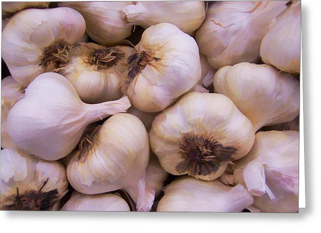 Bulk Garlic Watercolor Greeting Card by Kathy Clark