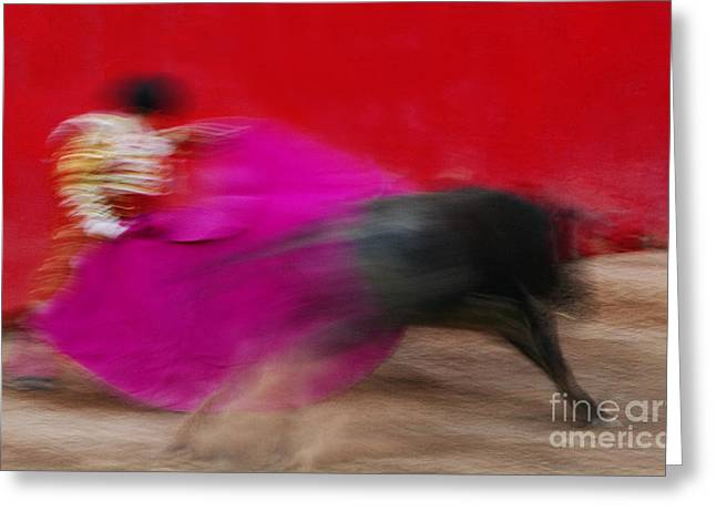 Bull Fighter - Mexico Greeting Card by Craig Lovell