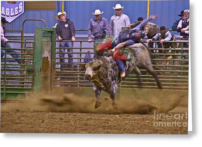 Bull Rider 1 Greeting Card by Sean Griffin