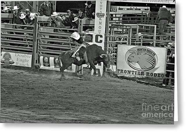Bull Rider Greeting Card by Shawn Naranjo