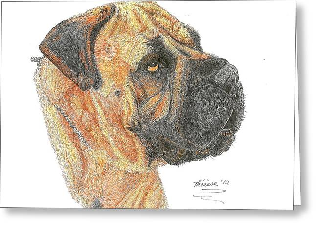 Bullmastiff Greeting Card