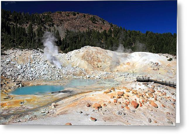 Bumpass Hell Landscape Greeting Card by Pierre Leclerc Photography