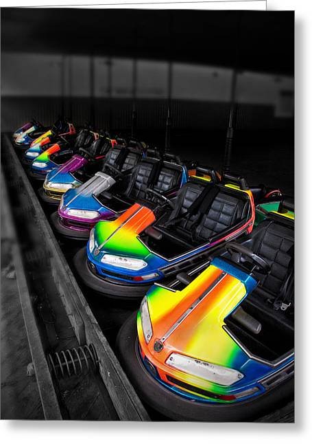 Bumper Cars Greeting Card by Mark Dottle