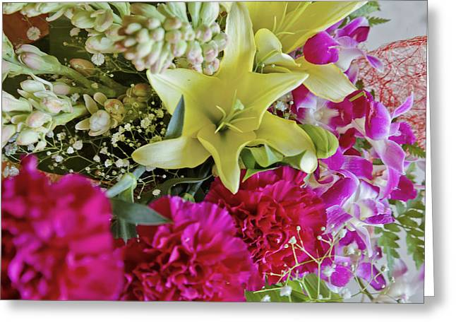 Bunch Of Flowers Happy Greeting Card