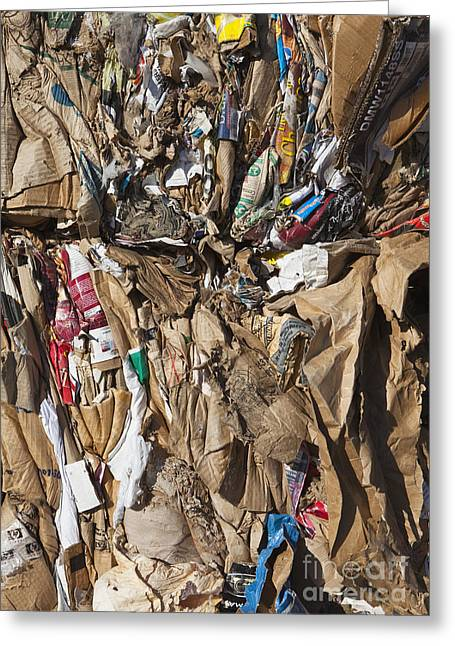 Bundle Of Recycled Materials Greeting Card