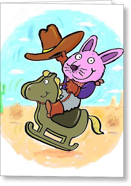 Bunny Cowboy Greeting Card
