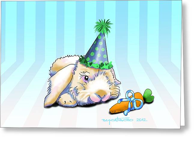 Bunny Present Greeting Card