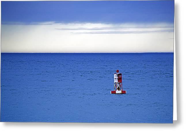 Buoy Off Bass Harbor Head Greeting Card by Rick Berk