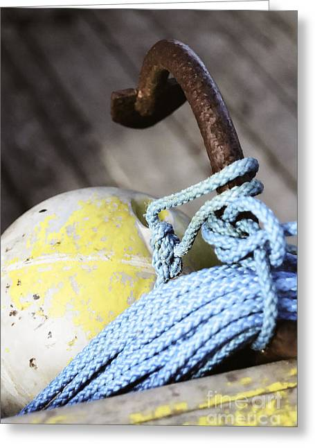 Buoy Rope And Anchor Greeting Card by Agnieszka Kubica
