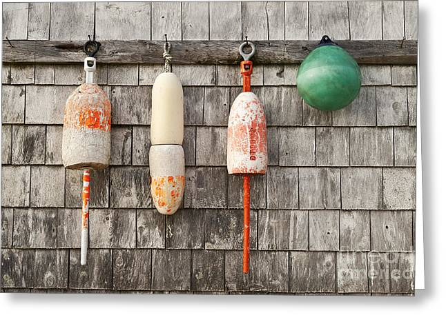 Buoy Shed Greeting Card by John Greim