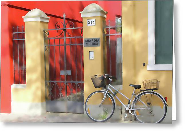 Burano Bicyle Doctor Greeting Card