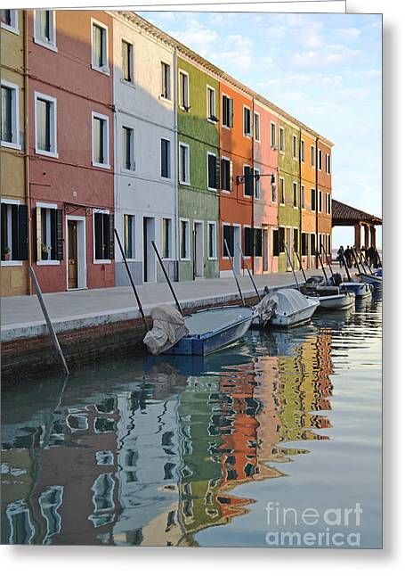 Greeting Card featuring the photograph Burano Canal by Rebecca Margraf