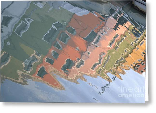 Greeting Card featuring the photograph Burano House Reflections by Rebecca Margraf
