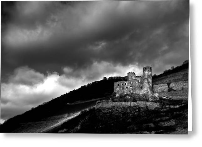 Greeting Card featuring the photograph Burg Ehrenfels by Justin Albrecht