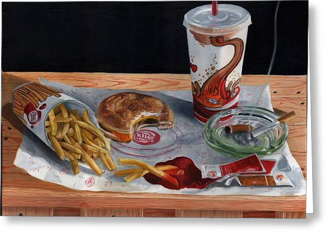 French Fries Greeting Cards - Burger King Value Meal no. 2 Greeting Card by Thomas Weeks