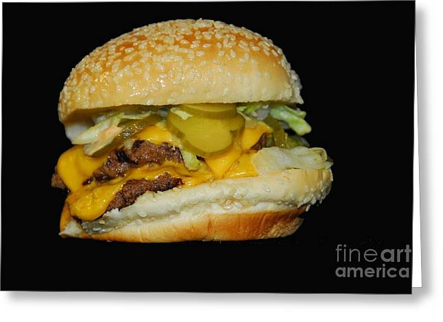 Greeting Card featuring the photograph Burgerlicious by Cindy Manero