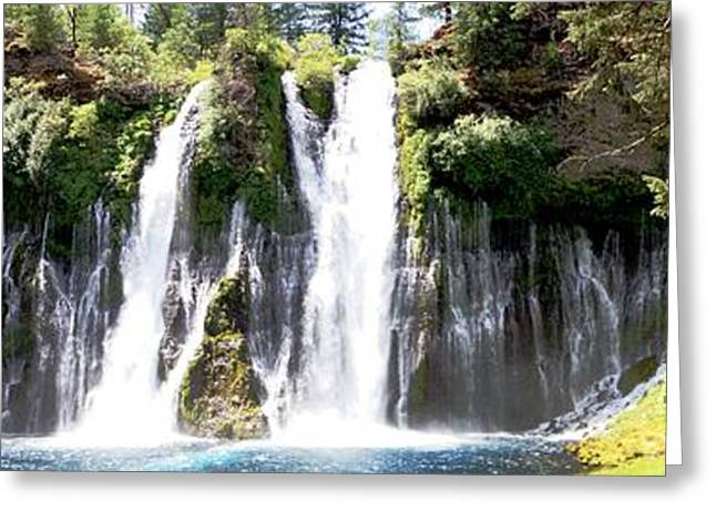 Burney Falls Panorama Greeting Card by Michael Courtney