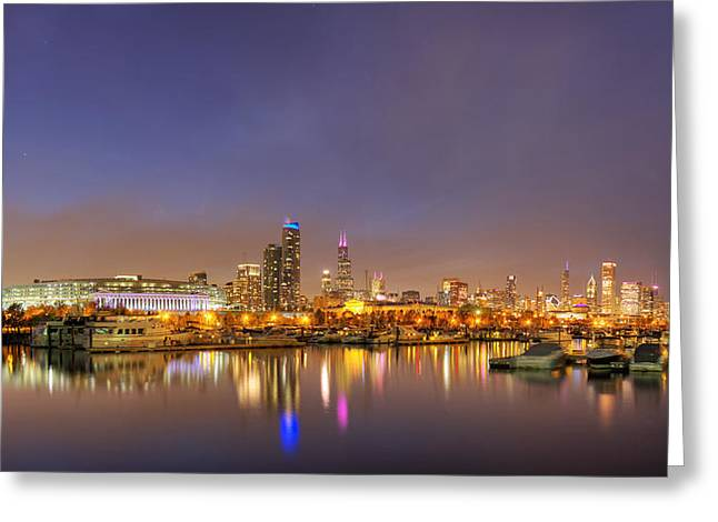 Burnham Harbor And Downtown Chicago Greeting Card