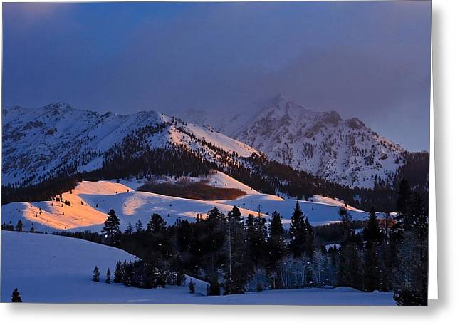 Burning Snow Greeting Card by Jim Neumann