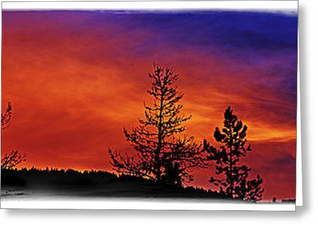 Greeting Card featuring the photograph Burning Sunrise by Janie Johnson