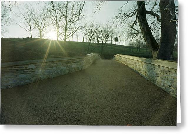 Burnside's Bridge From East Greeting Card by Jan W Faul