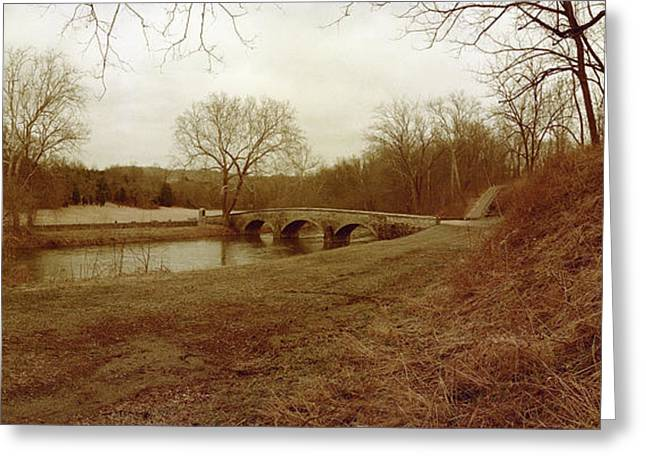 Burnside's Bridge Greeting Card by Jan W Faul