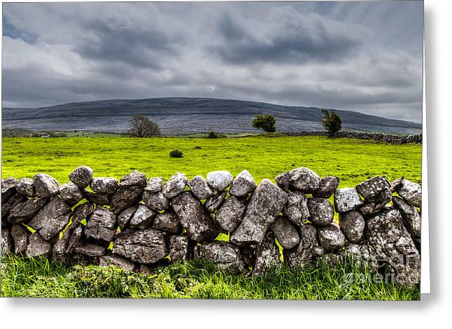 Burren Stones Greeting Card by Juergen Klust