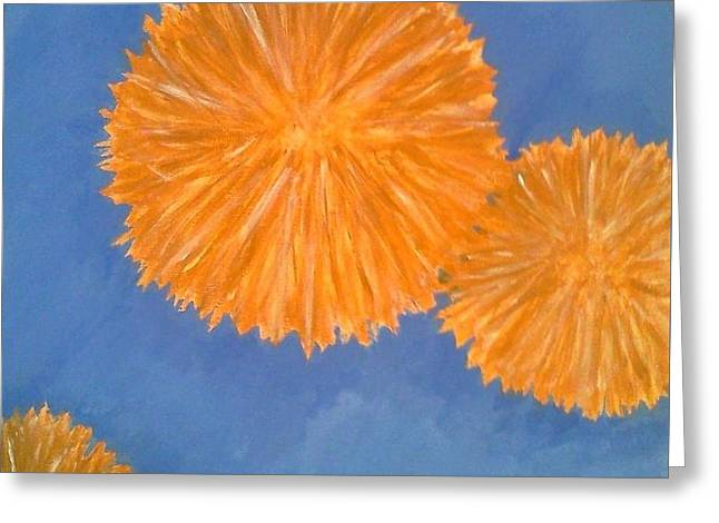 Burst Greeting Card by Holly  Varner