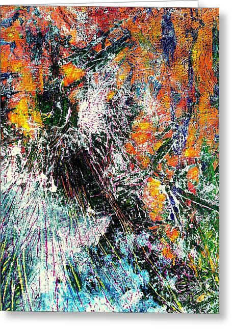 Burst In Orange Greeting Card