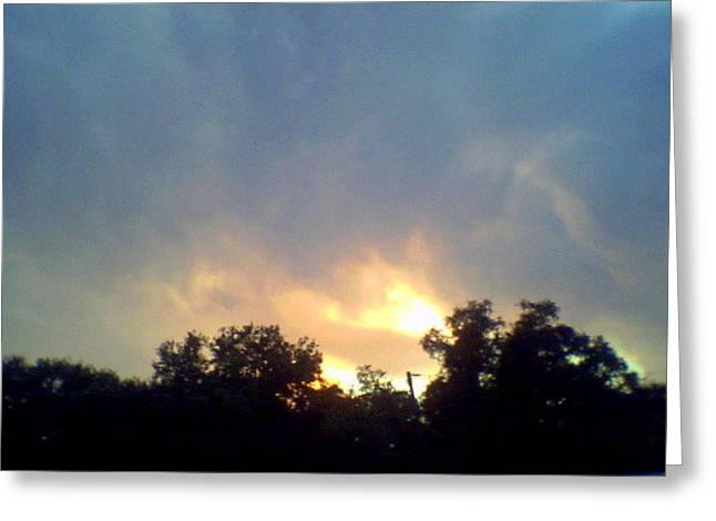 Bursting Clouds Greeting Card by Debbie Wassmann