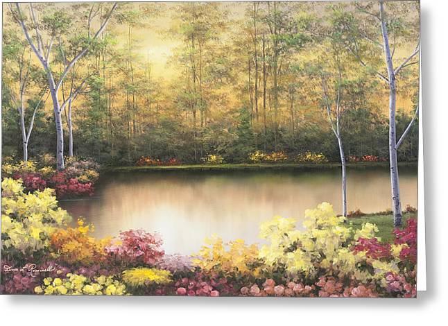 Bursting In Autumn Greeting Card by Diane Romanello