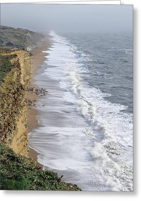 Burton Bradstock Cliffs Greeting Card by Adrian Bicker