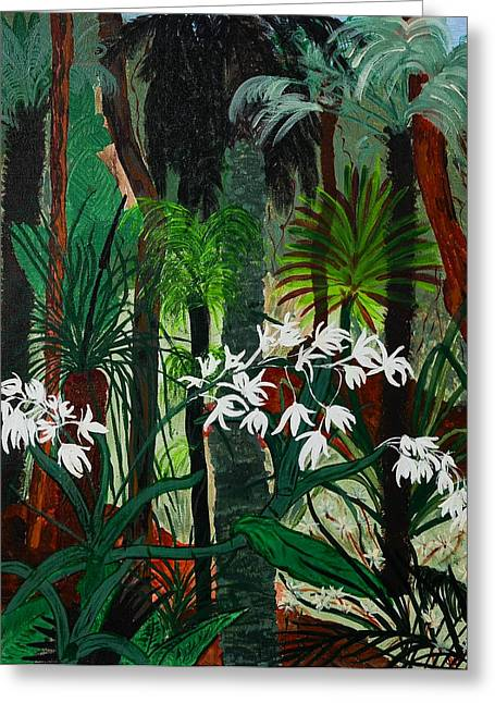 Greeting Card featuring the painting Bush Beauty by Judi Goodwin